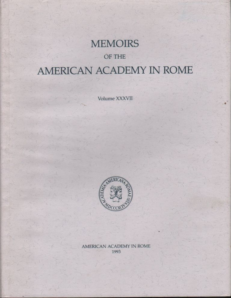 MEMOIRS OFTHE AMERICAN ACADEMY IN ROME VOLUME XXXVII (VOLUME 37) COSA III THE BUILDINGS AT THE FORUM. Frank Brown, Emiline Hill, Richardson.