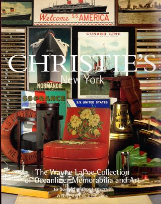 THE WAYNE LAPOE COLLECTION OF OCEANLINER MEMORIBILIA AND ART. Christie's