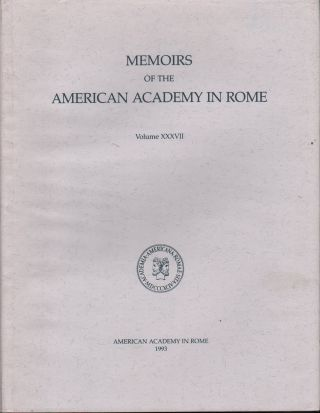 MEMOIRS OFTHE AMERICAN ACADEMY IN ROME VOLUME XXXVII (VOLUME 37) COSA III THE BUILDINGS AT THE...